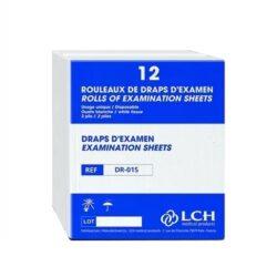 Draps d'examen LCH 50 x 38 cm, DR-015 (12 rouleaux)