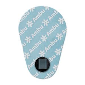 Electrodes à pontet pédiatrique Ambu White, 2742-00-A/50 (boîte de 900)